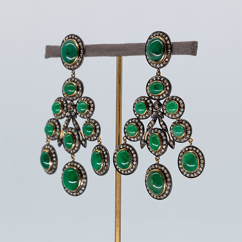 Emerald and Diamond Chandelier Drops