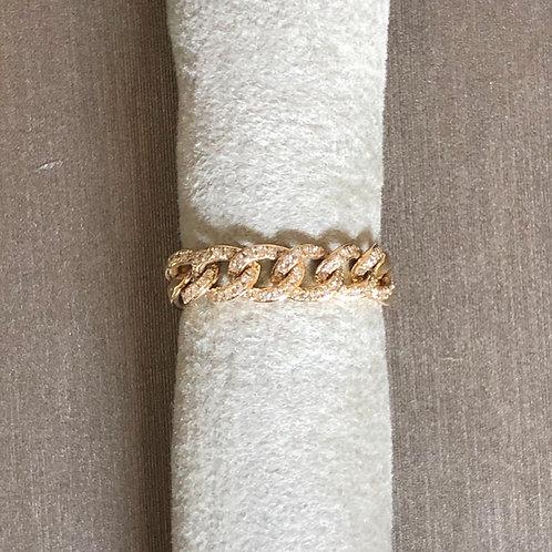 Skinny Diamond Chain Ring