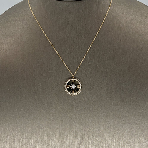 Diamond Compass Necklace