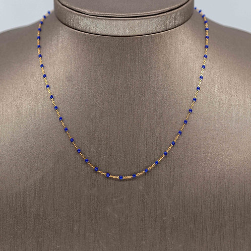 French 18k Gold & Resin Necklace
