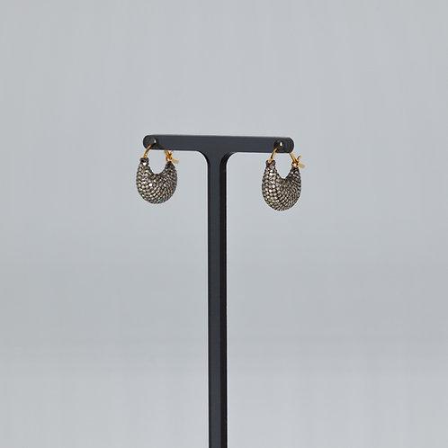 "Small Diamond ""purse"" Earring"