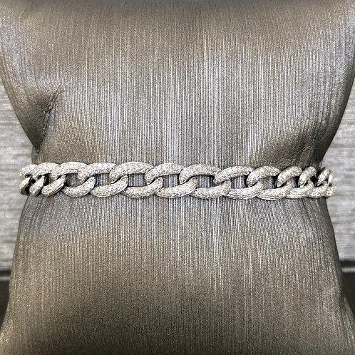 Diamond Chain Link Bracelet