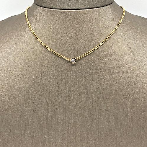 Solitaire Diamond Chain Necklace
