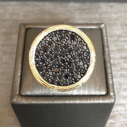 Black Diamond Circle Ring