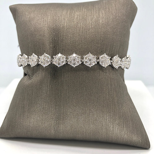 Flower Diamond Tennis Bracelet