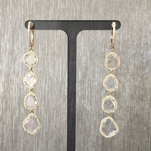Diamond Slice Delicate Drops in Yellow Gold