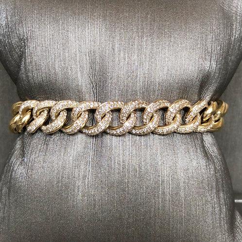 Large Diamond Chain Link Bracelet
