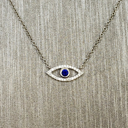 Baby Evil Eye in White Gold
