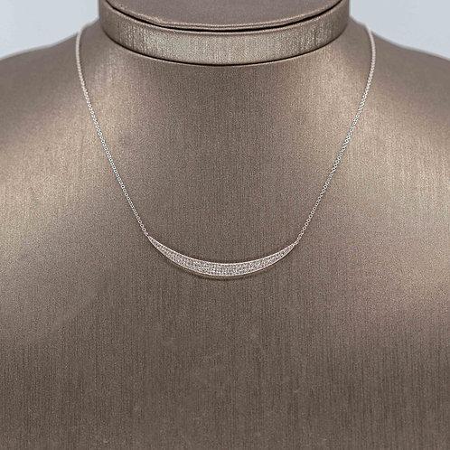 Wide Diamond Pave Crescent