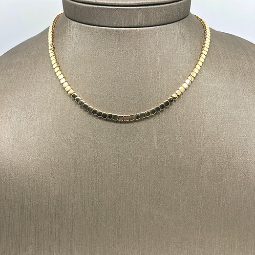 Chubby Bead All Gold Choker