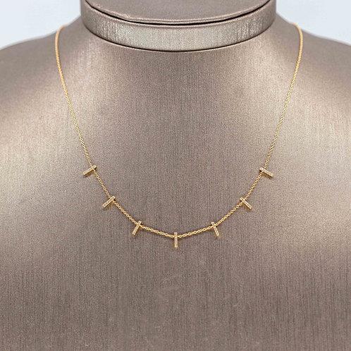 Diamond Stick Necklace
