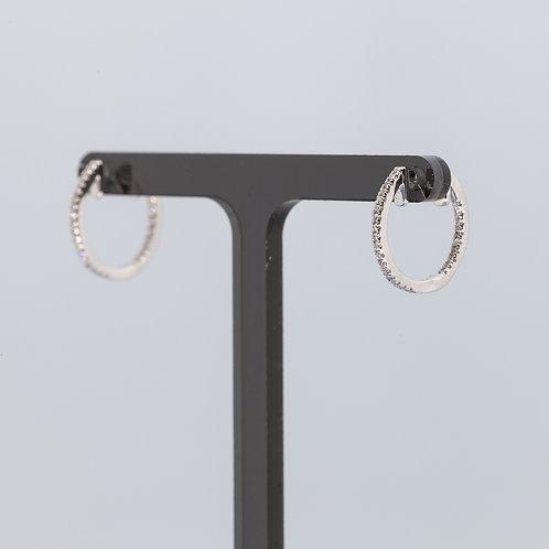 Pave Diamond Small Hoop