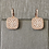 Large Diamond Pave Square Drops in Rose Gold