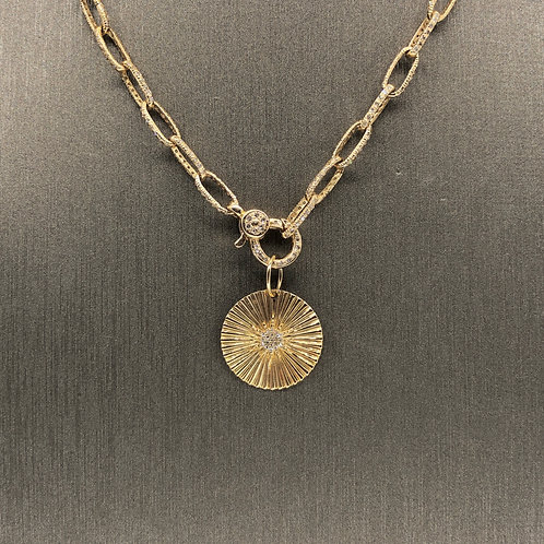 Diamond Starburst Gold Charm