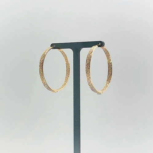 3 Row Diamond Hoops