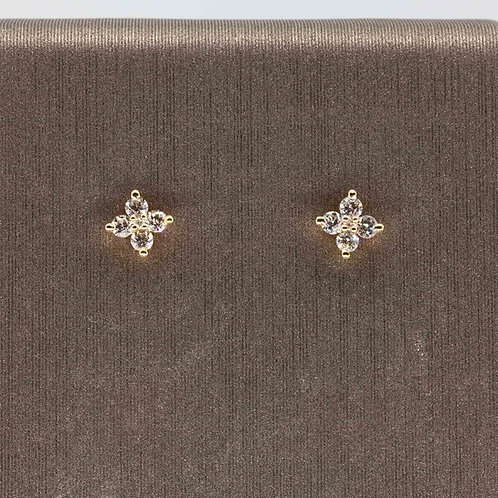 4 Diamond Cluster Studs