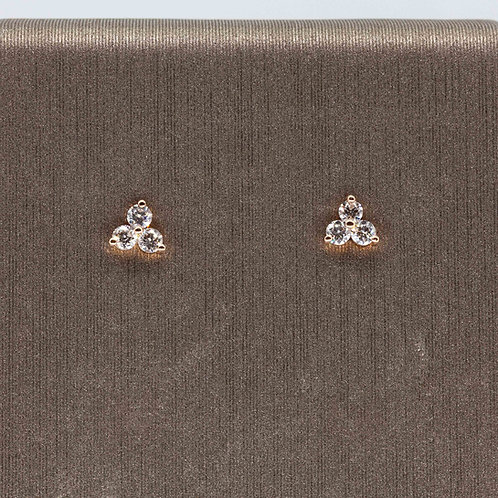 3 Diamond Cluster Studs