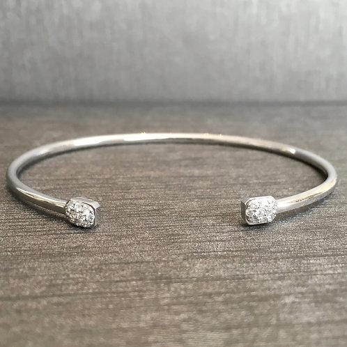 Open Diamond Cuff in White Gold
