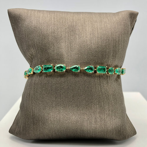 Emerald Mixed Shape Bracelet