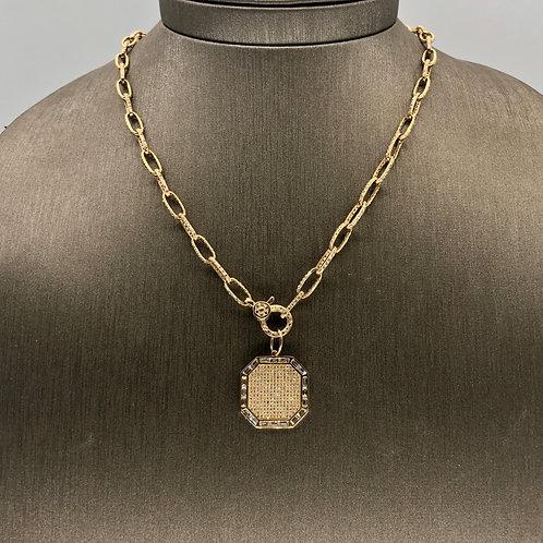 Baguette Diamond Pavé Charm
