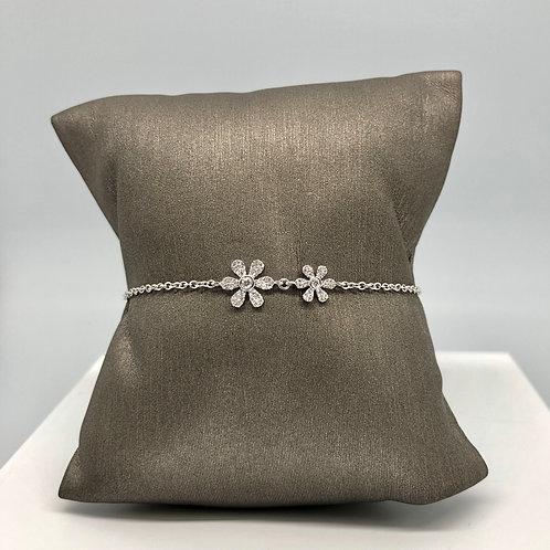 Double Flower Diamond Bracelet