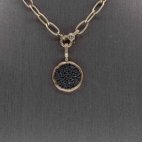Black Diamond Circle Pendant