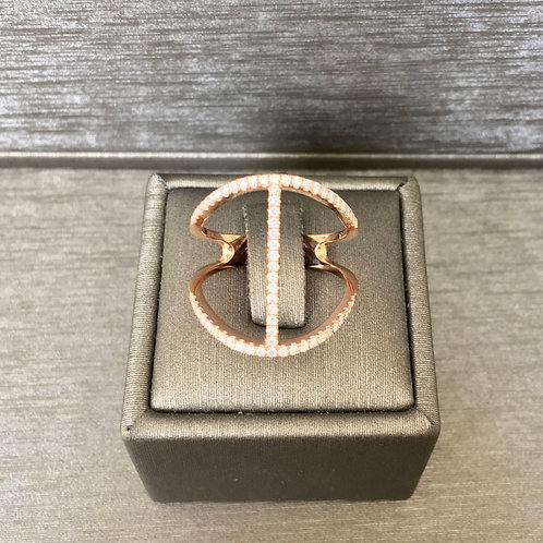 Diamond Bit Ring in Rose Gold