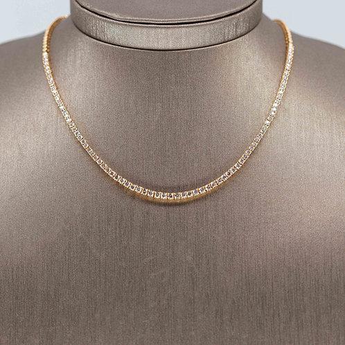 5 Carat Diamond Tennis Necklace in Yellow Gold