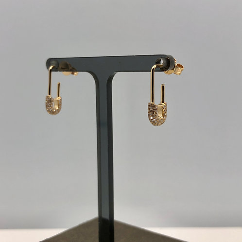 Safety Pin Drop Earrings