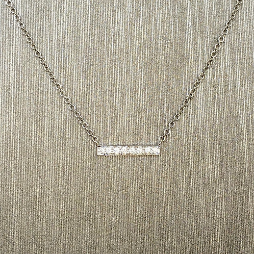 Baby Diamond Bar in White Gold