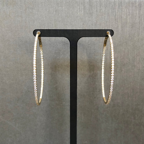Skinny Diamond Hoops