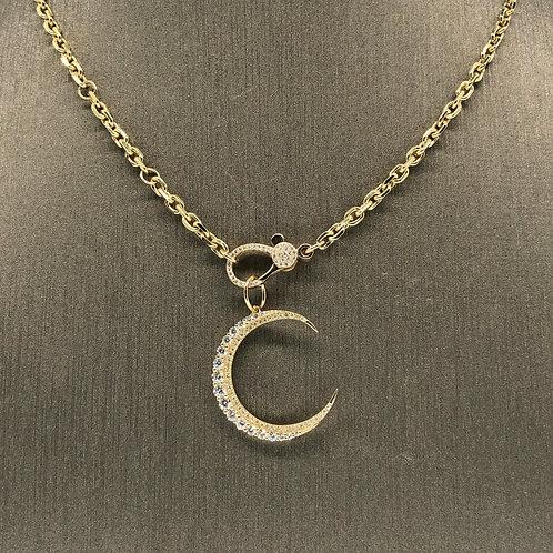 Diamond Crescent Charm