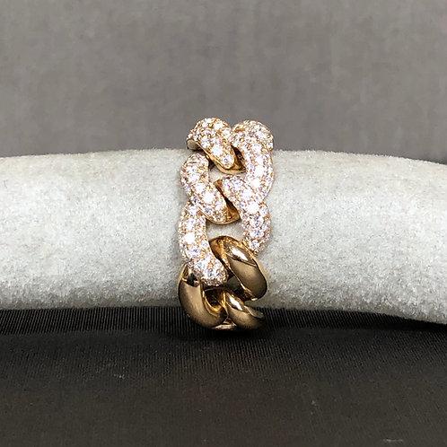 Rockstar Diamond Chain Ring