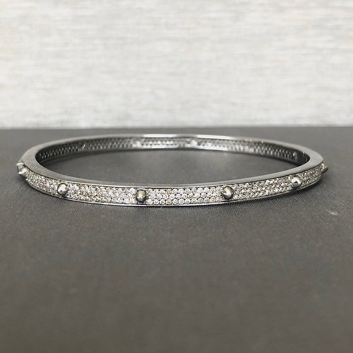Studded Diamond Eternity Bangle