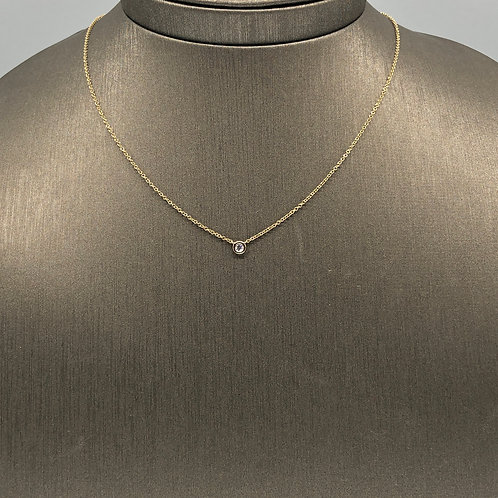Baby Diamond Solitaire Necklace
