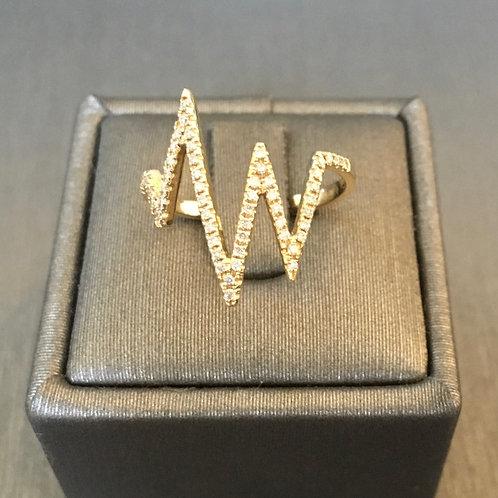 Heart Beat Diamond Ring