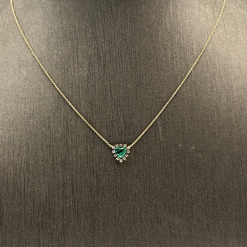 Malachite Baby diamond necklace