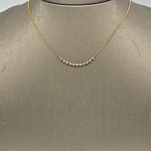 Solitaire Diamond Crescent Necklace