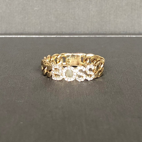 Boss Diamond Link Ring