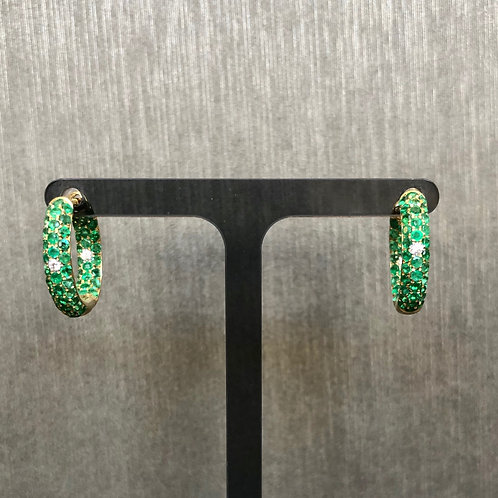 Emerald and Diamond Baby Cuff