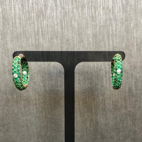 Emerald and Diamond Baby Cuff