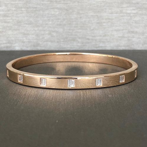 Rose Gold Baguette Diamond Bracelet