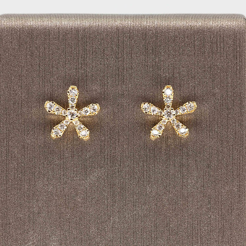 The Everyday Flower Studs in Yellow Gold