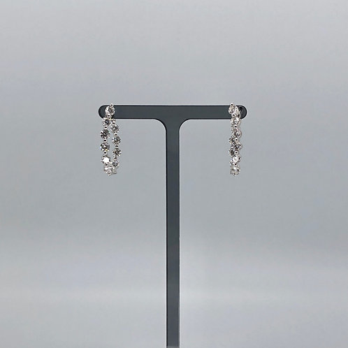 Spectacular 10 diamond Hoop