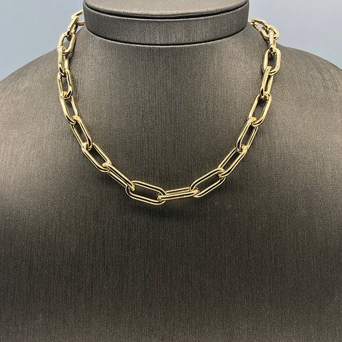 Thick Oval Gold Chain