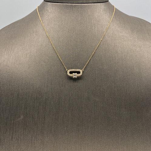 Diamond Carabiner Necklace