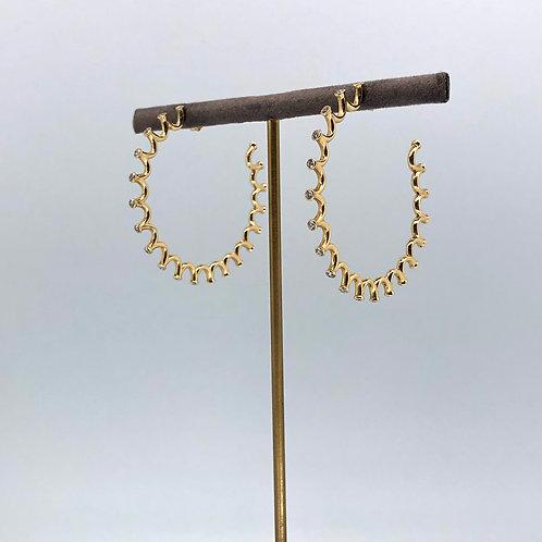 Royal Diamond Hoops
