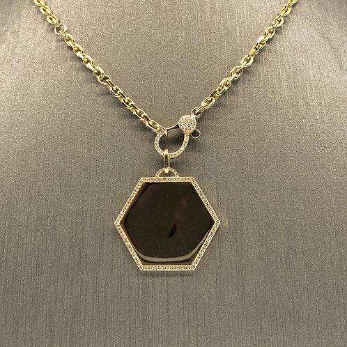 Hexagon Diamond Charm