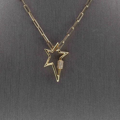 Diamond Carabiner Star Charm