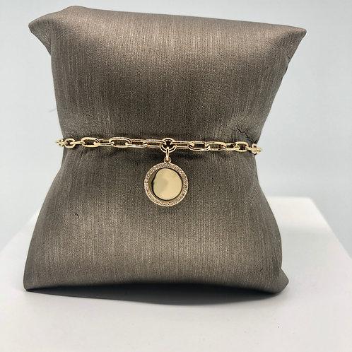 Shiny Diamond Charm Bracelet